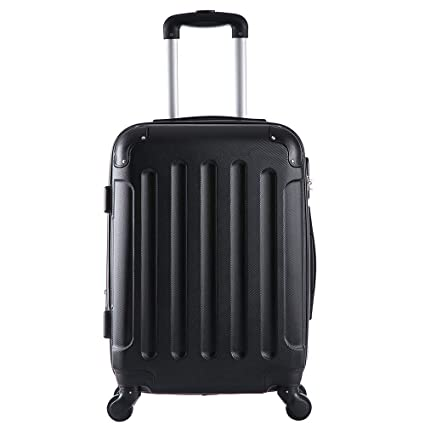 518de050a Elightry 1204 ABS Hard Shell Luggage Case Suitcase Superlight Travel Case  with 360 Rotating Wheels Volume Expandable(Black/M): Amazon.co.uk: Luggage
