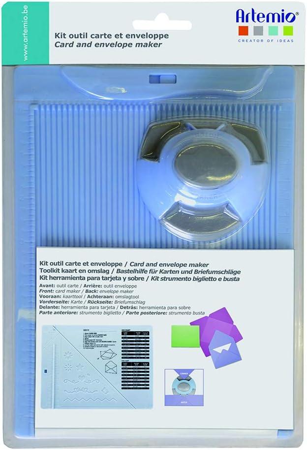 Artemio 18002087 - Kit de creación de Sobres y Tarjeta con Perforadora, plástico, Multicolor, 17,5 x 5 x 26 cm