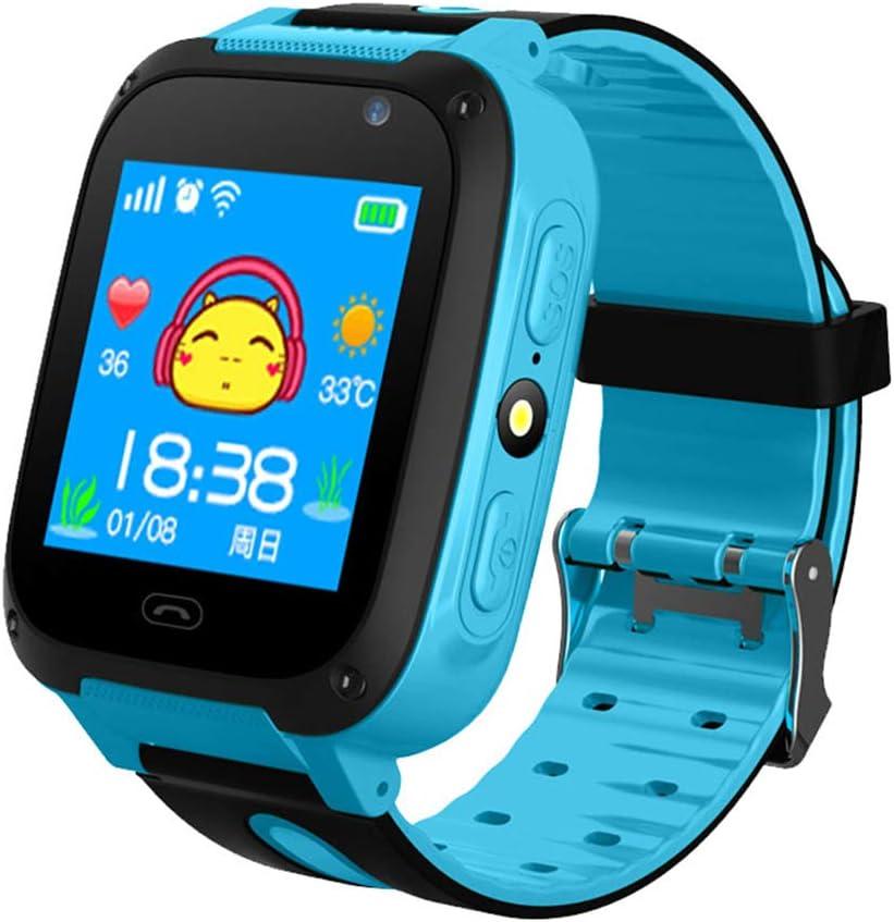 Reloj Inteligente, con GPS para Niños, Reloj Pulsera Antipérdida, Pantalla Táctil 1,44 Pulgadas, Resistente Agua, para Niños, Niñas, Regalo Cumpleaños,Azul