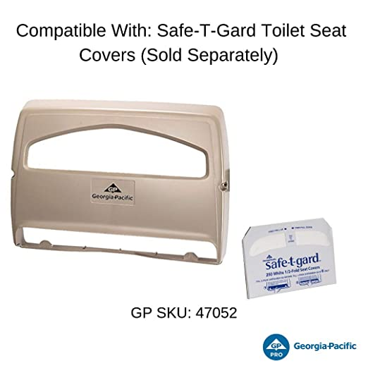 1000 Ct Safe-T-Gard 47052 White 1//2-Fold Toilet Seat-Covers Georgia Pacific