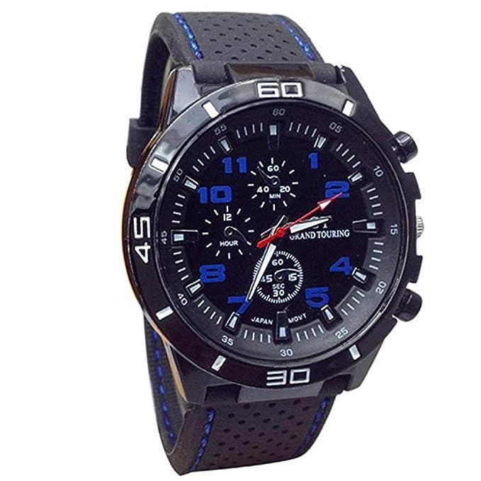 Reloj de Cuarzo Unisex para Hombre para Mujer, Reloj análogo de Moda único analógico, Relojes liquidación con Estuche de dial Redondo, Banda de Silicona ...
