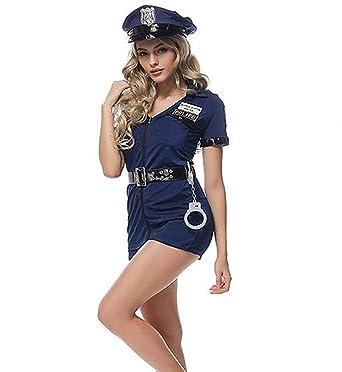 Polizei Kostum Polizistin Blau Mit Mutze Und Handschellen Gr S 34