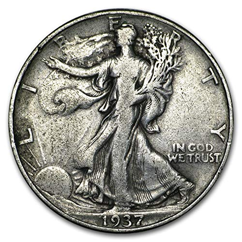 1937 D Walking Liberty Half Dollar 50c Very Fine