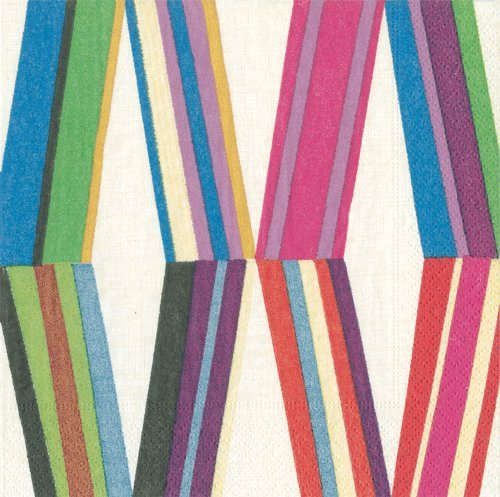 Cocktail Napkins Party Supplies Entertaining Holiday Party Wedding Birthday Pierre Frey Stripe Pk 40]()