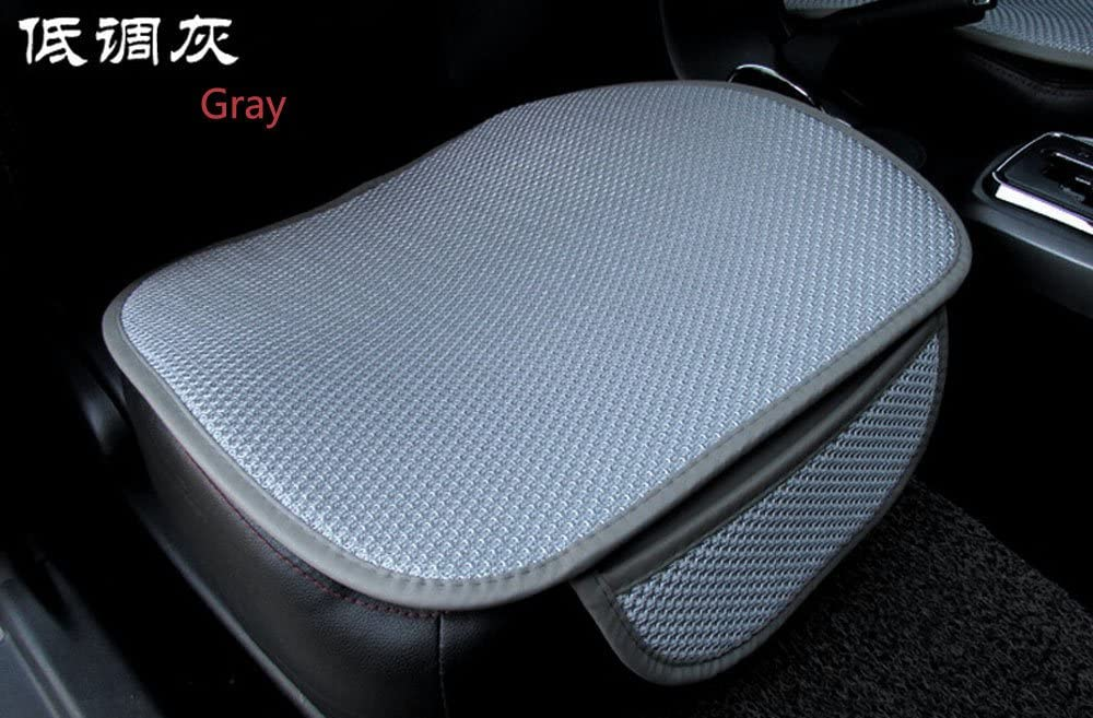 EDEALYN New Universal ultrathin Antiskid Car Seat cushion Seat Cover Pad Mat For Auto Accessories Office Chair Four seasons general,1 PCS (Gray)