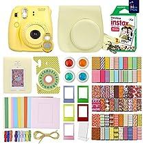 FujiFilm Instax Mini 8 Camera With 20 Instax Film + Accessories KIT for Fujifilm Instax Mini 8 Camera includes: + Custom Fitted Case + Assorted Sticker, Plastic & Paper Frames + Photo Album + MORE