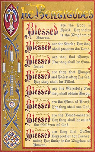 Posterazzi The The Key of Heaven 1874 The Beatitudes Poster Print by Thomas Kelly, ((8 x 10) ()