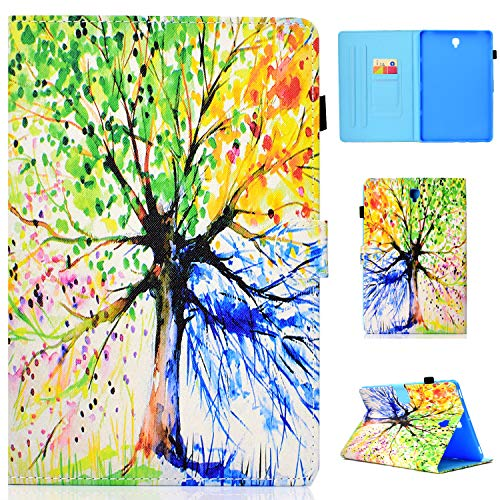 Galaxy Tab S4 10.5 Case, ZERMU Shockproof Premium PU Leather Kickstand Feature Flip Wallet Case with Card Holder ID Slot Magnetic Closure Case for Samsung Galaxy Tab S4 10.5 Inch 2018 SM-T830 /T835