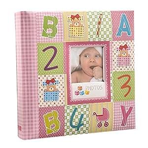 Arpan 10 x 15 cm Baby Photo Album 200 Hold Slip In case Memo Album - Alphabet by ARPAN
