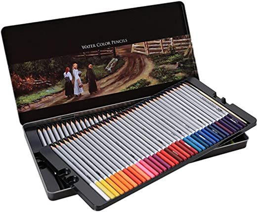 Lvein 72 crayones con Caja de Metal Acuarela Plumas lápices de Colores Set lápices de Colores no tóxicos para niños Adultos Adulto Adulto Adultos Pintura Dibujo: Amazon.es: Hogar