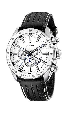 FESTINA F16489/1 - Reloj de Caballero de Cuarzo, Correa de Piel Color Negro: Festina: Amazon.es: Relojes