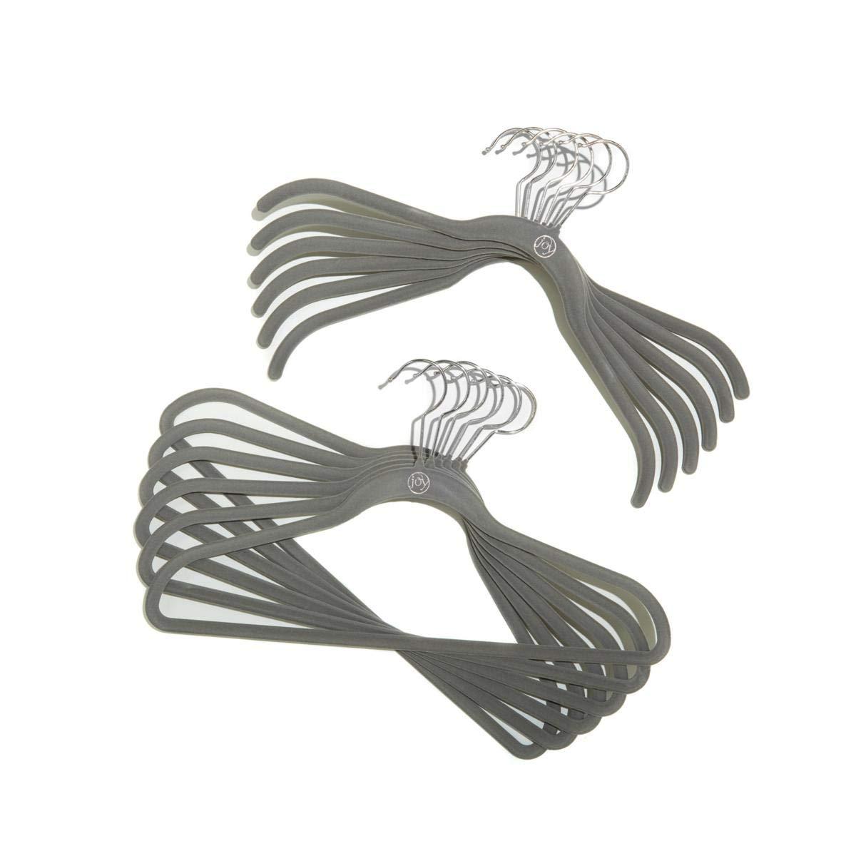 Joy Mangano Steel Gray Huggable Hangers - 100 Piece (Chrome)