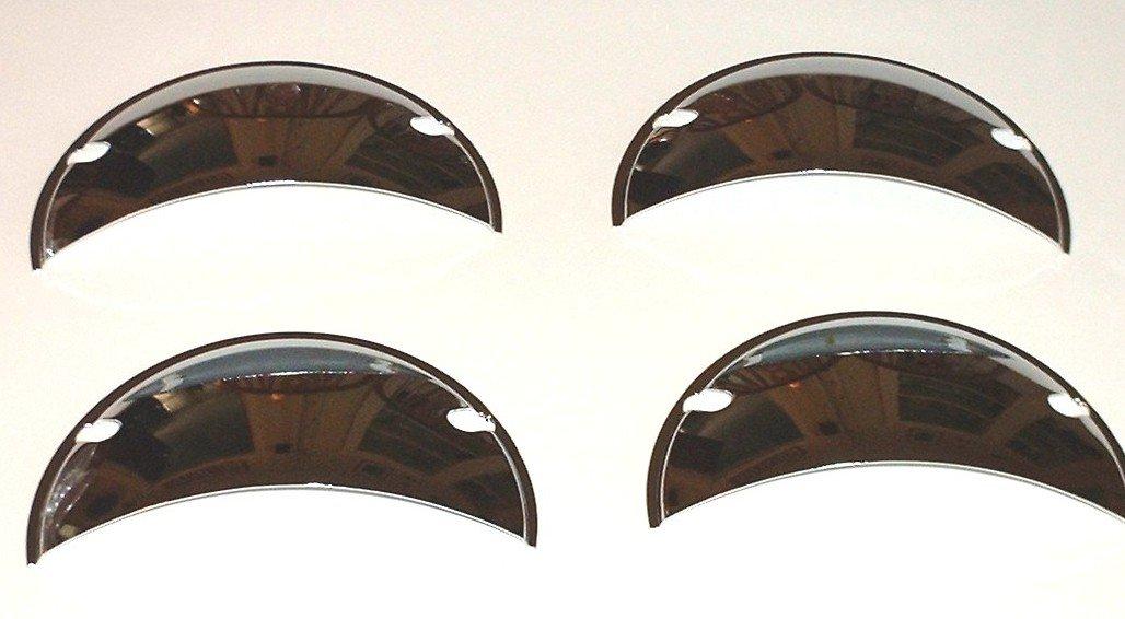 Octane Lighting H6024 / 6014 7' Metal Chrome Tri Bar Lucas w/Bullet Spike Headlight Lamp Cover for Car Truck Motorcycle (4) HM 5