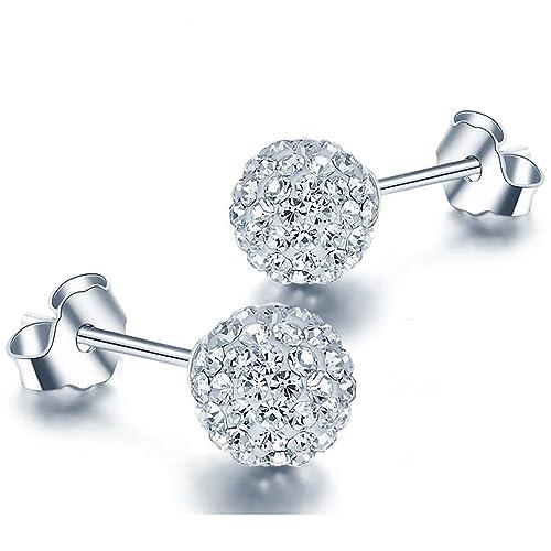 fad9ca3f4adb EMPATHY JEWELS - Pendientes de Plata con Cristales de Swarovski - Regalos  Originales para Mujer