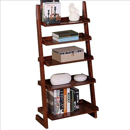 Librerías Escalera inclinada de 5 niveles Estante for librerías Estante for estanterías Almacenamiento de estantes de pared Unidad Rack, Unidad de estante de soporte de flores for plantas de interior: Amazon.es: Hogar