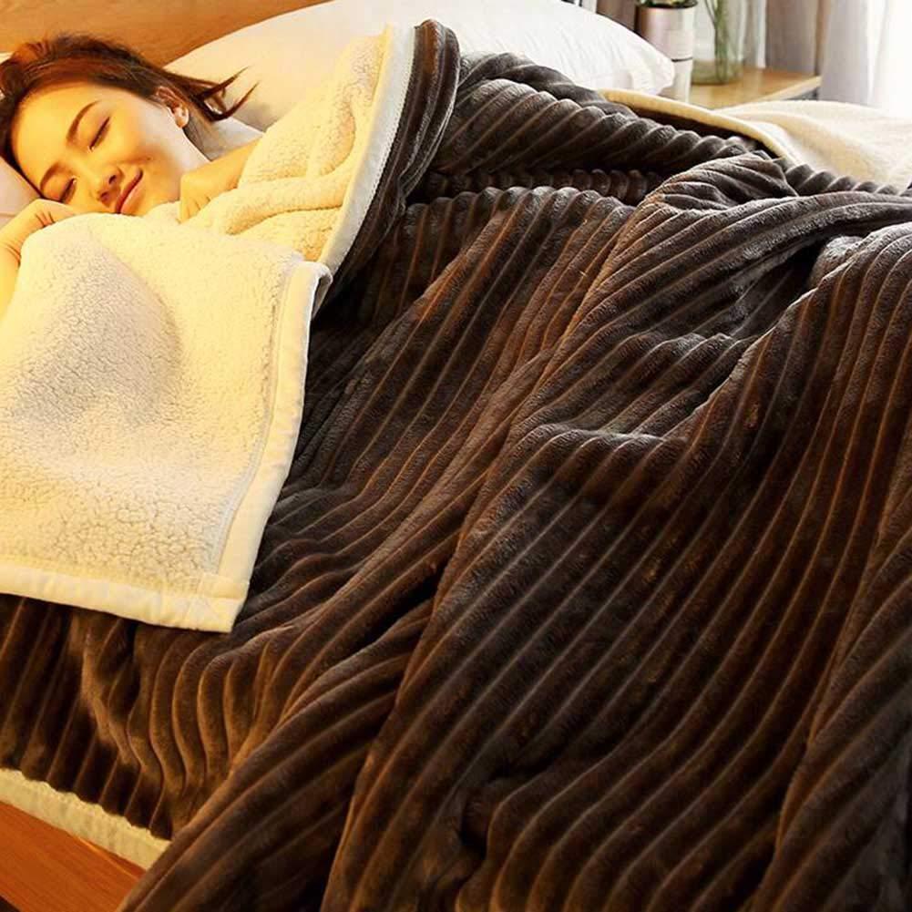 YIXINY キルト 冬 両面 フランネル 毛布 キルト 厚い 二重層 毛布 ダブル 人 フランネル 毛布 (色 : T3, サイズ さいず : 150*200cm) B07H979L75 T3 150*200cm