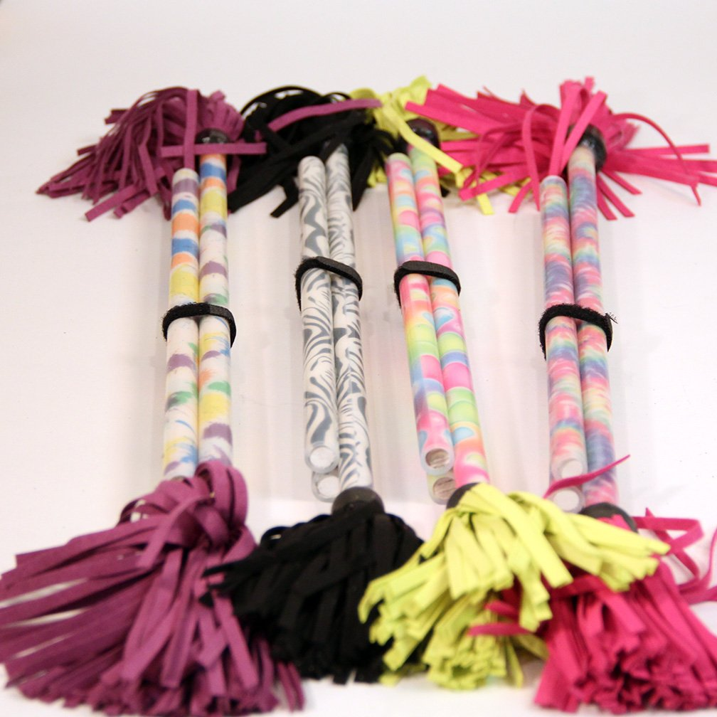 Z-Stix Kids Made to Order Handmade Juggling Sticks Flower/Devil Stick - Kids Stix 18'' - Pattern Series (Zebra)