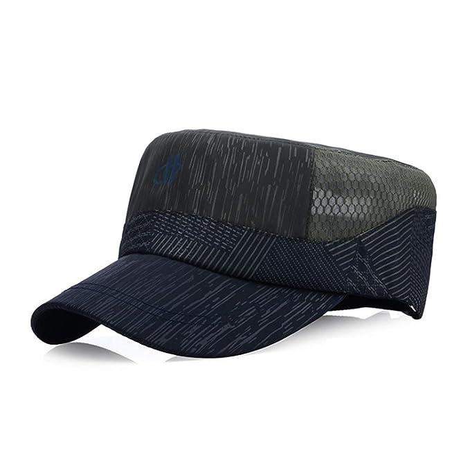 Mesh Cap Summer Mens Baseball Cap Man Flat Trucker Hat Gorras para Hombre De Marca Dad