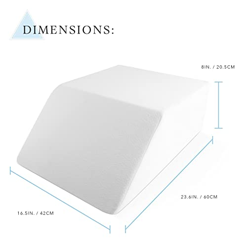 leg back removable cushion dp washable rest pillow for wedge bed support with cover
