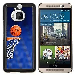 Cancha de Baloncesto aro- Metal de aluminio y de plástico duro Caja del teléfono - Negro - HTC One M9+ / M9 Plus (Not M9)