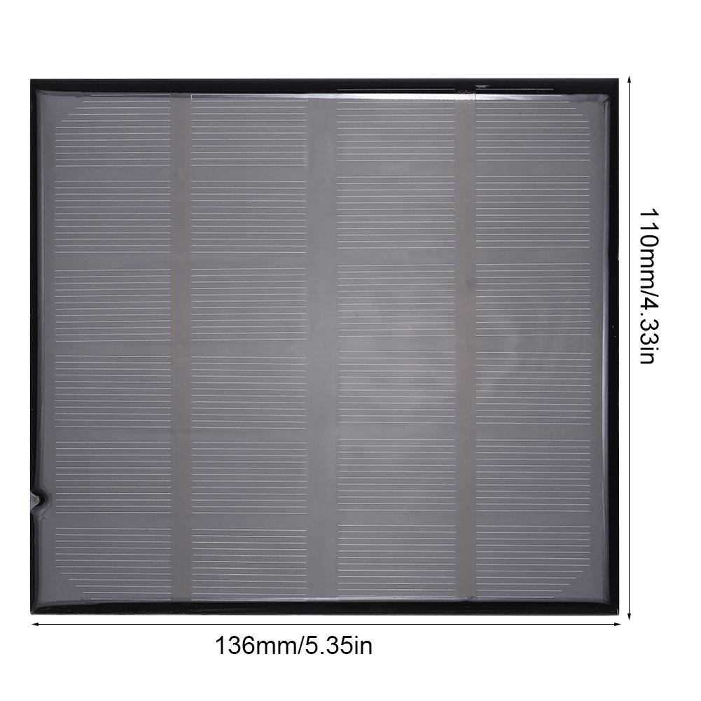 Jadpes Panneau Solaire Mini Alimentation Solaire Intelligente de Panneau Solaire polycristallin Portable de 6V 2W pour Le Chargeur de Batterie ext/érieur
