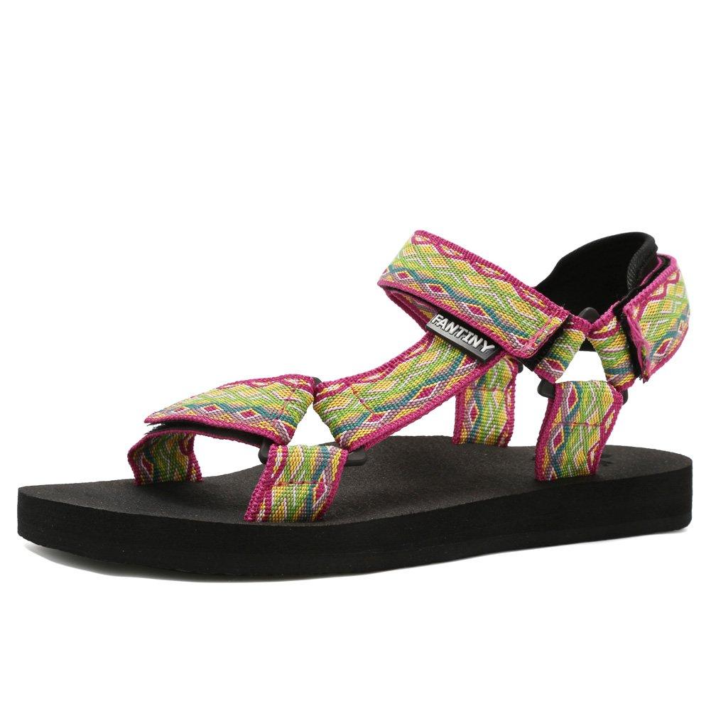 Fantiny Women's Original Sandal with Arch Support Yoga Mat Insole Shoes,U118SLX022,Pink,39
