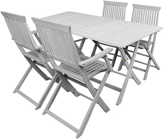 SSITG Groupe de sièges Sydney Salon de jardin table de ...