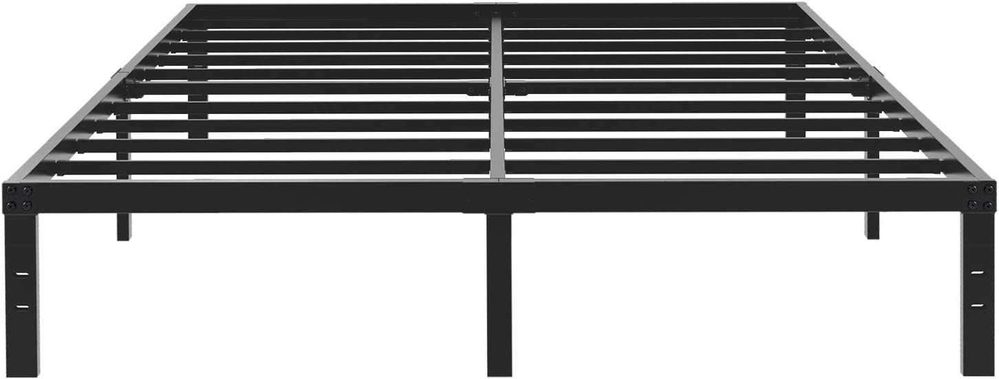 45MinST 14 Inch Platform Bed Frame Easy Assembly Mattress Foundation 3000lbs Heavy Duty Steel Slat Noise Free No Box Spring Needed, Twin Full Queen King Cal King Queen