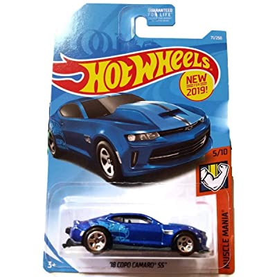 Hot Wheels 2020 Muscle Mania 5/10 - Blue '18 Copo Carmo SS #71/250 on U.S. Card: Toys & Games