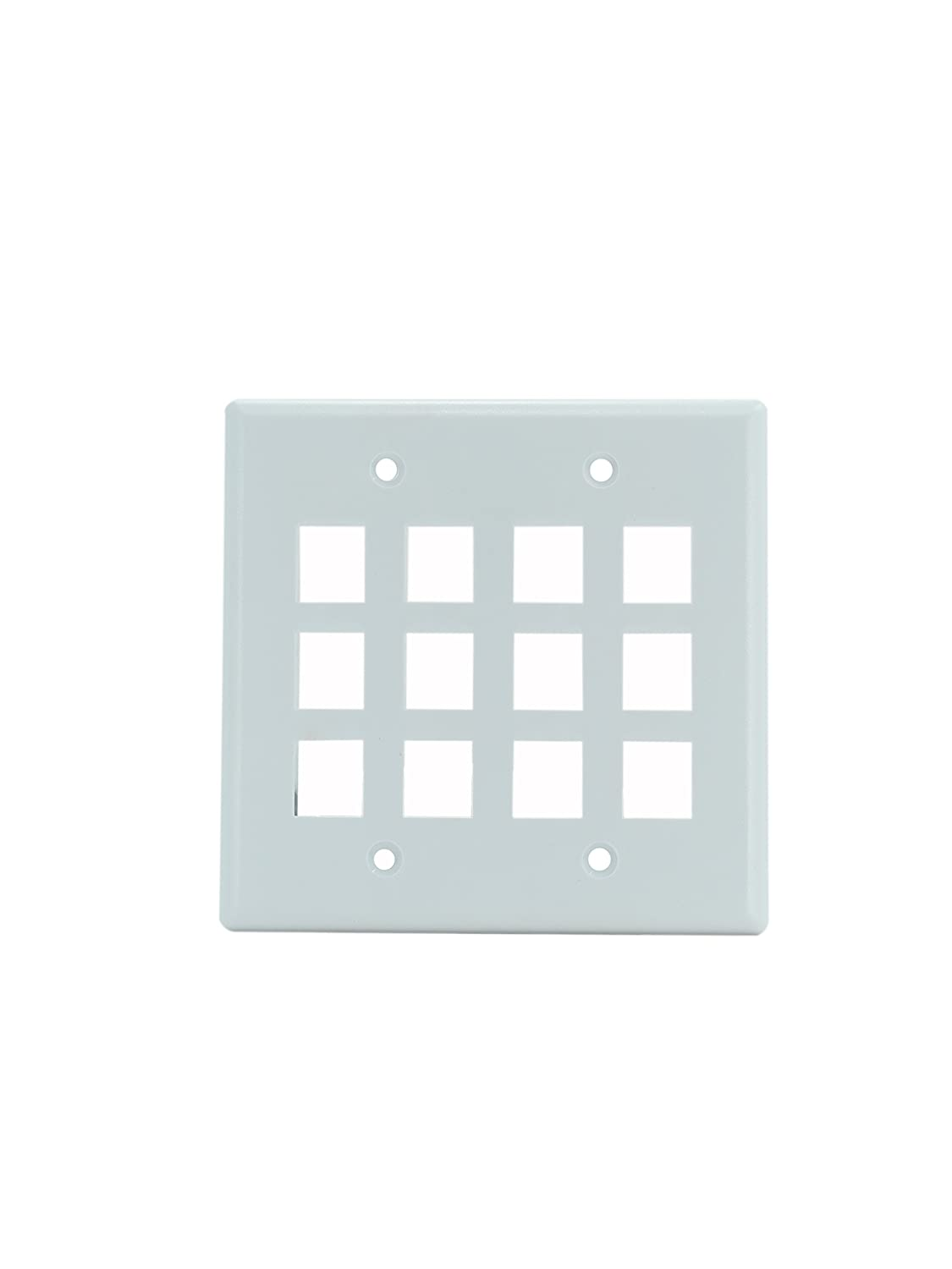OnQ/Legrand WP3212WH 2Gang, 12Port Wall Plate, White On Q