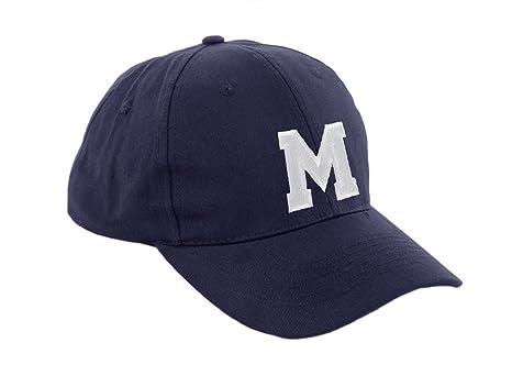 New Casquette de Baseball Cap BLEU MARINE Garçon Fille Enfants Chapeau  Bonnet Unisexe A-Z Alphabet ( a5fe42d0fd0