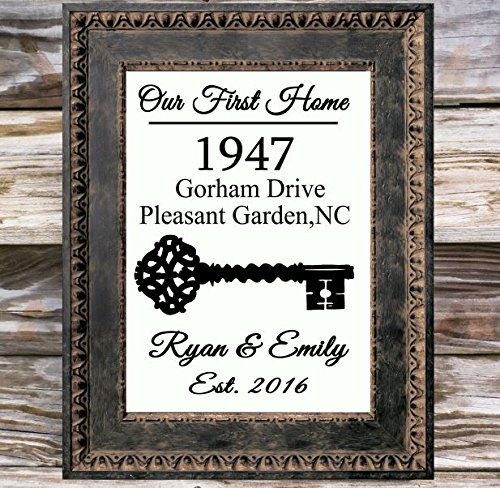 Our First Home Canvas Print | Personalized Address Sign | New Home Housewarming Gift | House Warming Gifts | New Homeowner | New House Gift