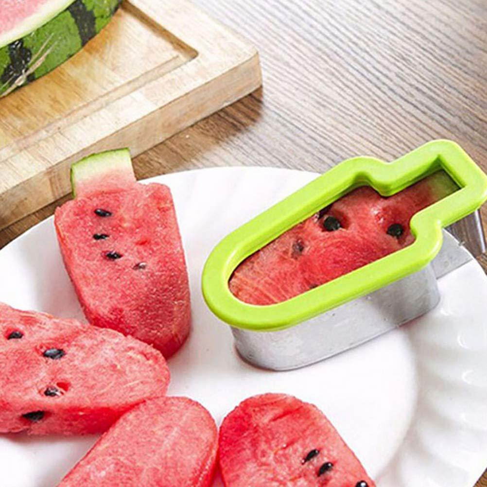 BESTONZON Sand/ía Slicer Ice Cream Shapes Fruit Slicer Cortador de mel/ón Cocina Herramienta de bricolaje 2 pcs