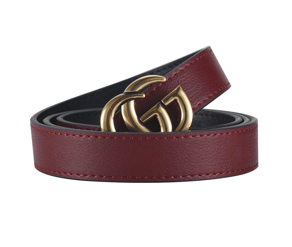 [TGVQUN] Luxury Designer GG Style Slim Thin Women Girl Fashion Belt [2.5CM Width]