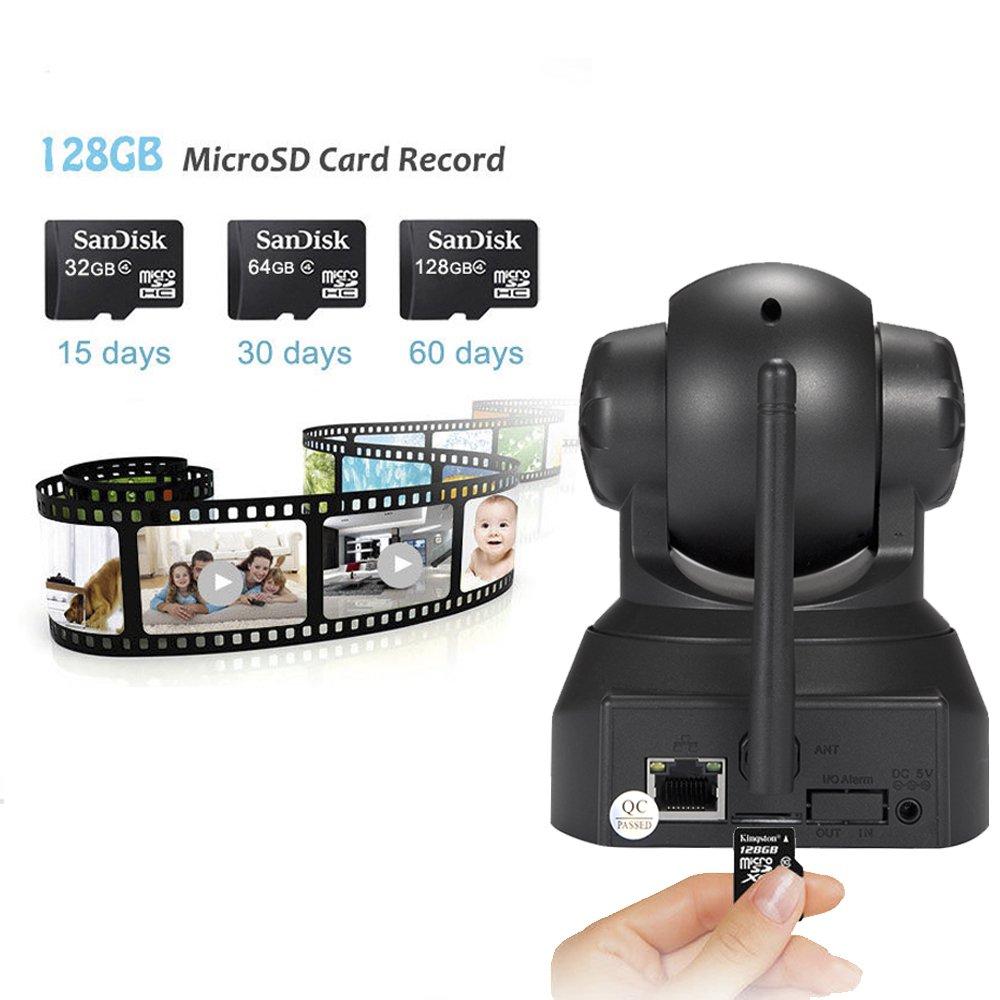 Sricam SP012 Cámara de vigilancia, IP Cámara 1080 x 720p Wifi IR-LED, funcionalidad audio de doble via, visión nocturna, soporta tarjeta MicroSD de hasta ...