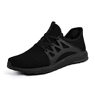 ZONKIM Womens Running Shoes Non Slip Lightweight Breathable Mesh Sneakers Athletic Gym Sports Walking Shoes Black, 8
