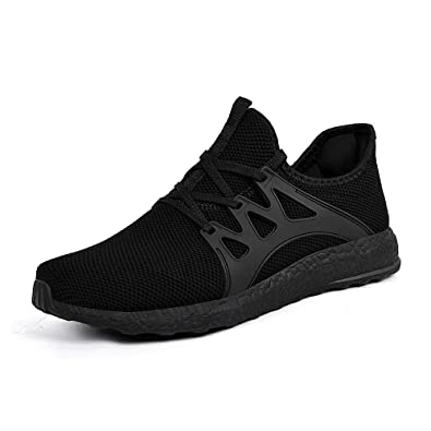 cheap for discount 1dec6 177b9 ZONKIM Womens Running Shoes Lightweight Breathable Mesh Non Slip Sneakers  Athletic Gym Sports Walking Shoes Black