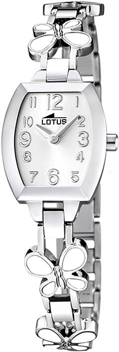 Lotus Reloj Analógico para Nios de Cuarzo con Correa en Acero Inoxidable 15827/1