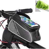 "Tricodale Bolsa Bicicleta Cuadro, 6.3"" Bolsa Manillar Bici"