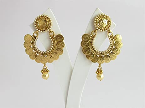 dp jewelry punjabi with jadau indian gold pearl drops earring navratan design earrings india com amazon