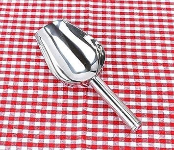 8-Zoll Edelstahl Eis Schaufel Lebensmittel Mehlschaufel Buffet Süßigkeiten Neu