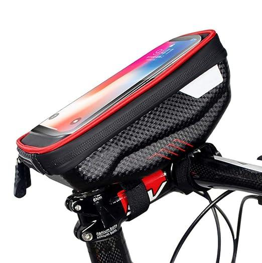 ESRW Bolsa Cuadro Bicicleta, Impermeable Bolsa De Bicicletas ...