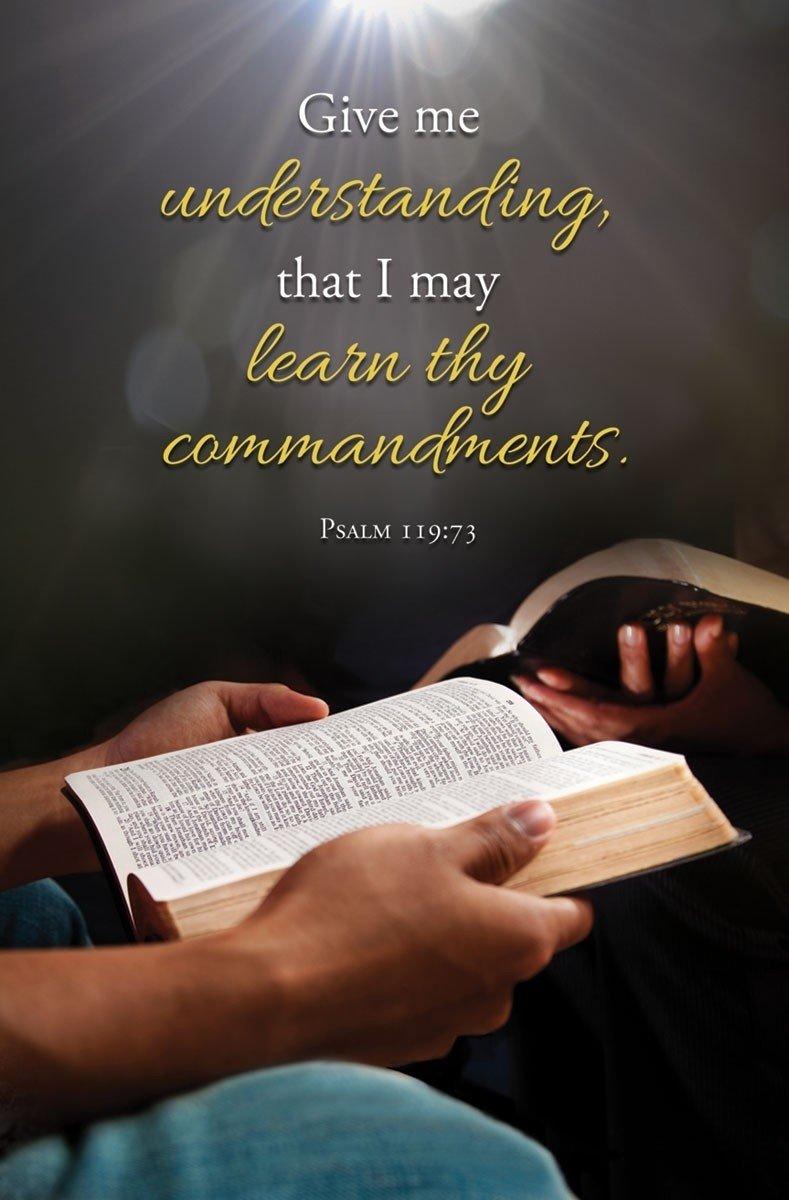 General Worship Bulletin - ''Give me understanding...'' - KJV Scripture - (Package of 100)
