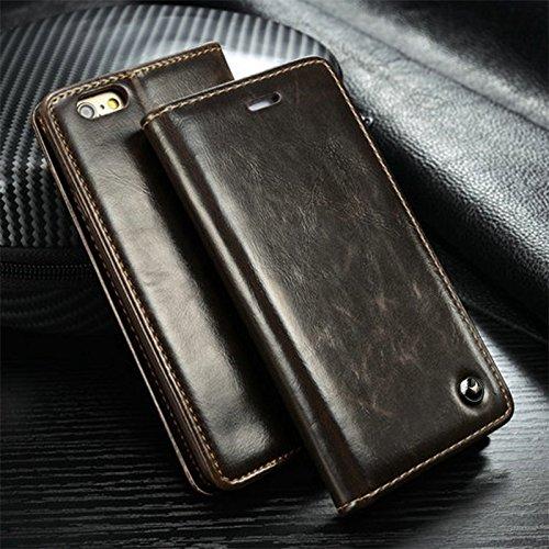 Samsung Galaxy S7 braun Mobilefox Luxus Tasche Geldbeutel Schutz Hülle Case Etui Bumper Schale Cover