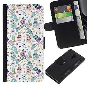 iBinBang / Flip Funda de Cuero Case Cover - Vacaciones de Navidad del trullo - Samsung Galaxy S4 IV I9500