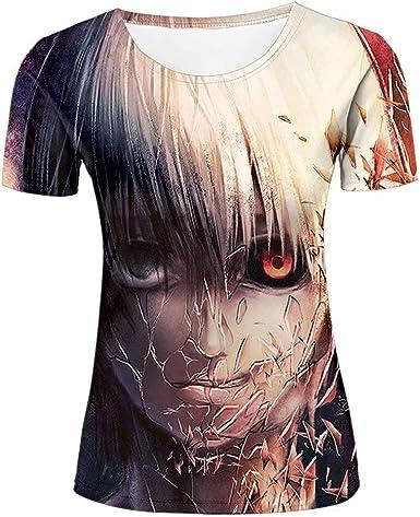 Mujer 3D Graphic Naruto Anime Characters Print Camisetas Manga Corta Tees Top Camisa: Amazon.es: Ropa y accesorios