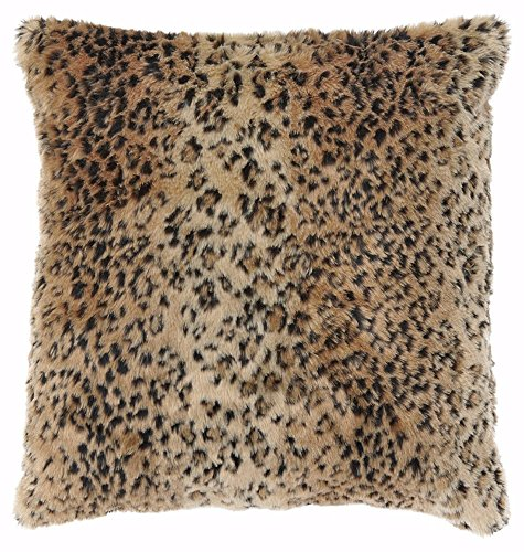 Leopard Print Pillows (Ashley Furniture Signature Design - Rolle Leopard Print Faux Fur Throw Pillow - Traditional - Brown)
