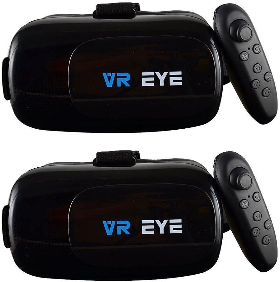 Bitmore VR Eye Headset V2.0 con Bluetooth controlador, pack de 2 ...