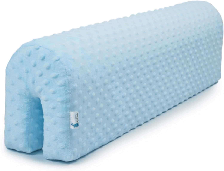 protector cuna barrera cama - protector cama anticaida, infantil protector pared cama niños (azul, 70 cm)
