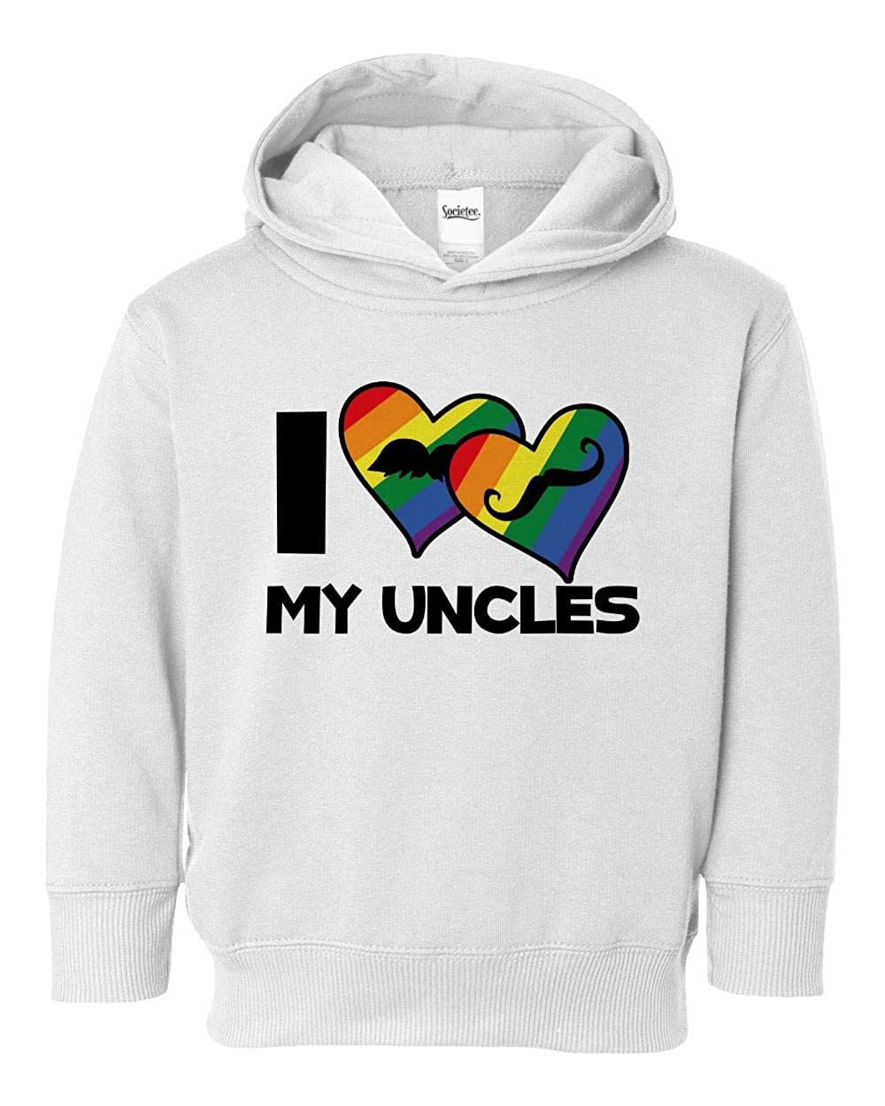 Societee I Love My Uncles Girls Boys Toddler Hooded Sweatshirt